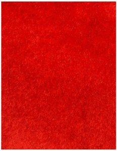thảm lông xù màu đỏ tươi