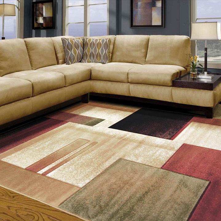 thảm lót sàn phòng khách len 4
