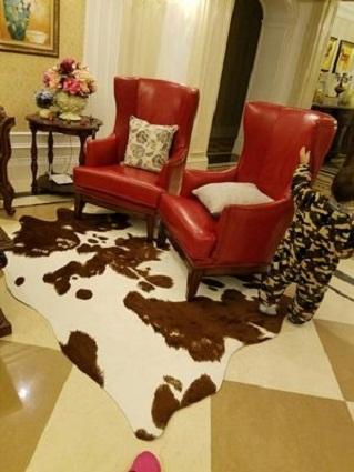 thảm lông thú trải sàn phòng khách 1