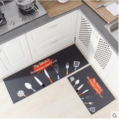 thảm trải nhà bếp dụng cụ