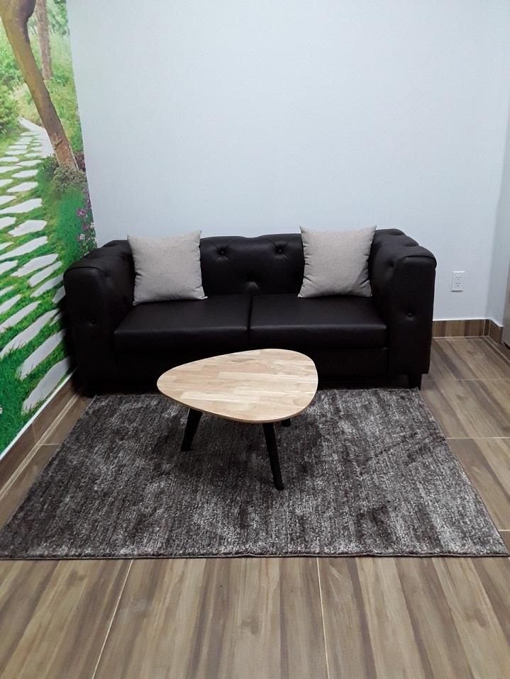 thảm trang trí phòng khách đẹp màu nâu