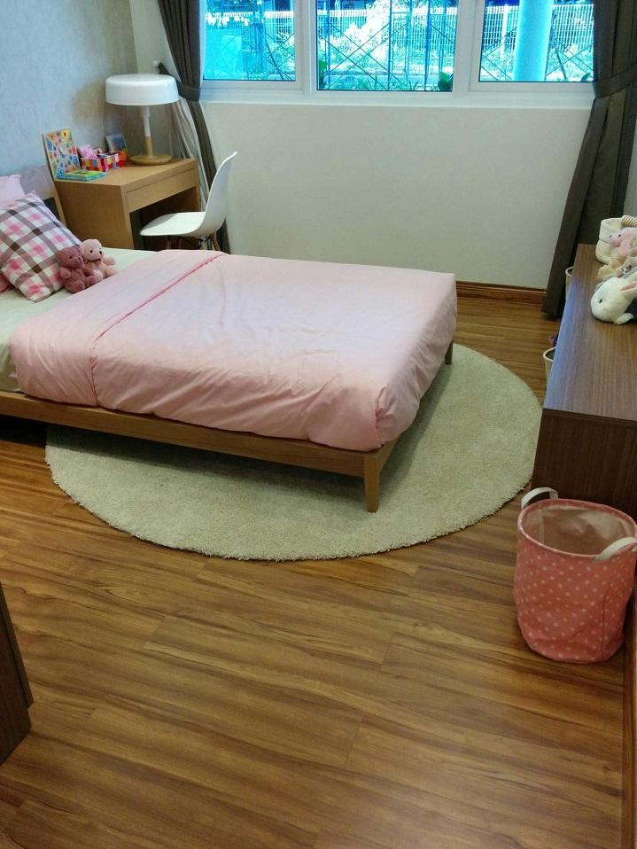 thảm phòng ngủ 1 màu tròn