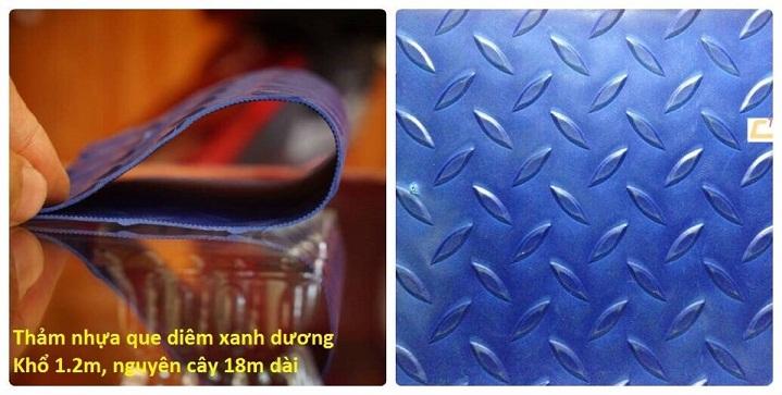 thảm cao su trải sàn xanh dương