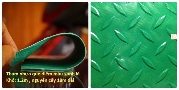 thảm cao su trải sàn xanh lá