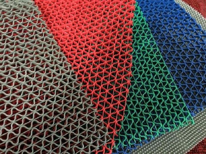 thảm nhựa trải sàn lưới gợn sóng 4 màu