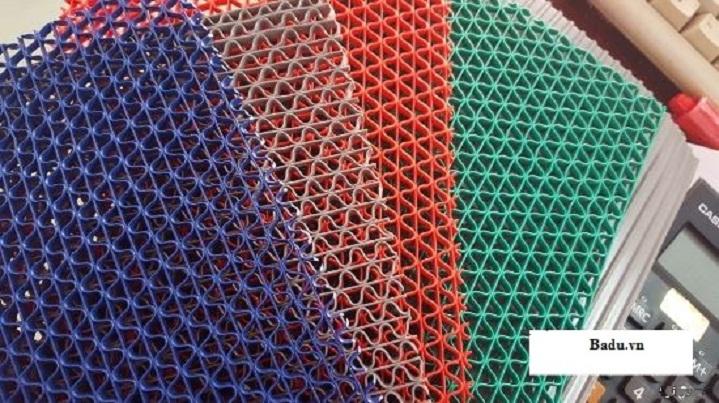 thảm nhựa trải sàn lưới gợn sóng 4 màu 2