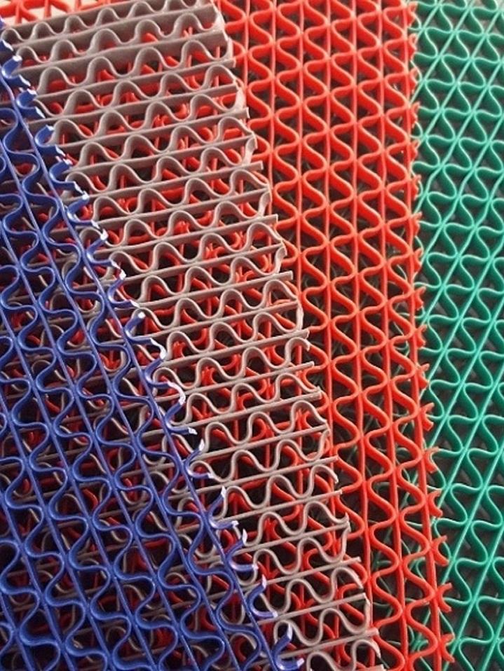 thảm nhựa trải sàn lưới gợn sóng 4 màu 3