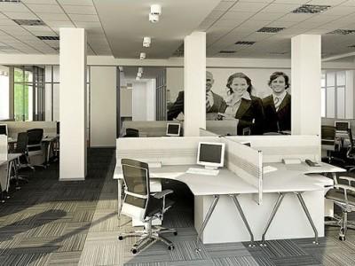 Thảm trải sàn nhà văn phòng một màu