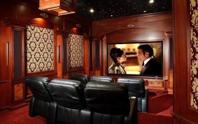 Phòng giải trí tại nhà sử dụng thảm để trang trí cách âm