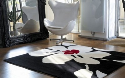 Độc đáo với tấm thảm trải phòng khách